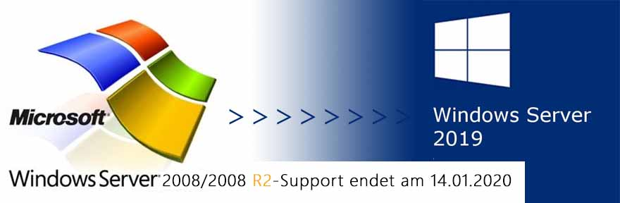 Support für Windows aServer 2008/2008 R2 endet am 14.01.2020